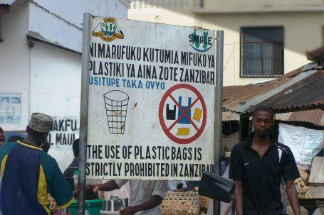 Der Beweis: Plastiktüten sind auf Sansibar verboten