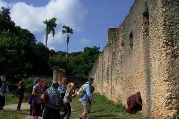 Was sucht unsere Lehrerin Shani bloß in der Mauer?
