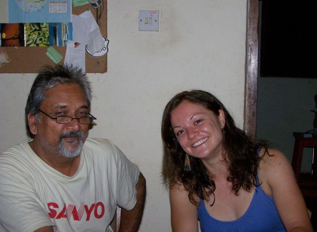 Mein Gastvater Girish & ich