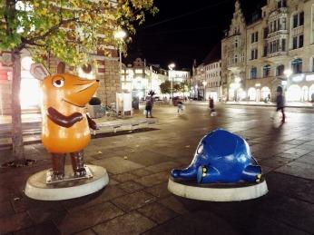 Maus und Elefant haben es in die Erfurter Innenstadt geschafft