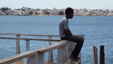 Blick auf Lamu Town