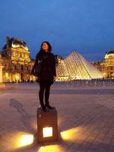 obligatorisches Tourifoto am Louvre