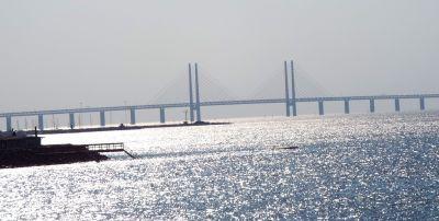 die Öresundbrücke, welche Dänemark ud Schweden verbindet