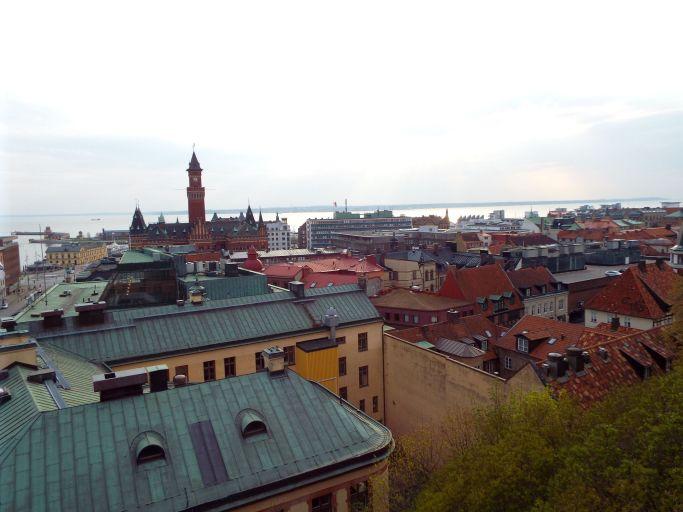 Sonnenuntergang über Helsingborg