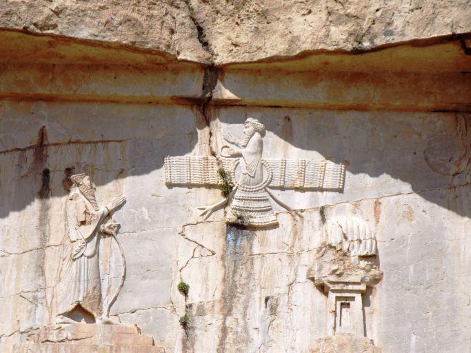 das Symbol des Zoroastrismus, der Faravahar