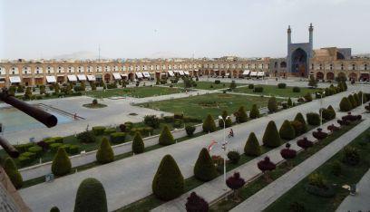 Maidan-e Emam, der große Platz in Isfahan, der früher ein Polofeld war