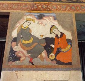 ... und chinesische Einflüsse in der Malerei werden sichtbar