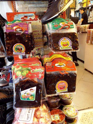 Fruchtmus, eine sehr saure iranische Süßigkeit