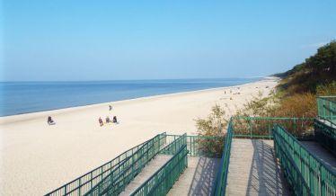 am Strand von Międzywodzie