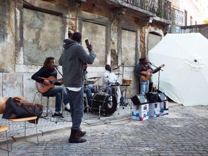 kapverdische Band am Castelo