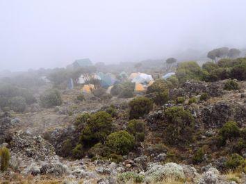 Bei der Ankunft im Camp macht uns allen die Höhe zu schaffen