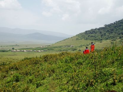 Maasai-Gebiet in der Ngorongoro Conservation Area