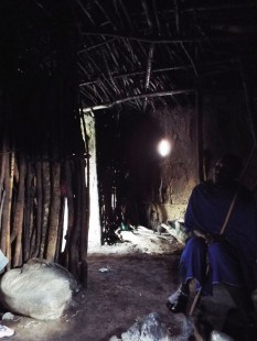 In einem Maasai-Boma