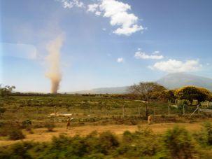 Wirbelsturm auf dem Weg nach Arusha