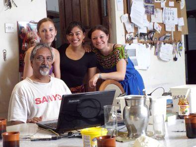 Girish, Olga, Yasmin & ich