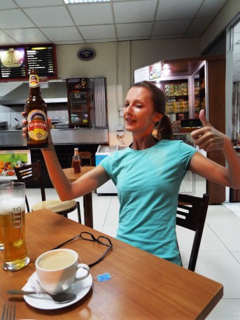 If you can climb it, you can also drink it! Das letzte Kilimanjaro vor dem Rückflug