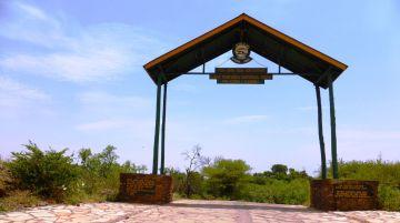 Der Eingang zum Lake-Manyara-Nationalpark