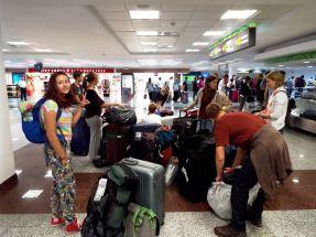 Ankunft am Flughafen in Santo Domingo
