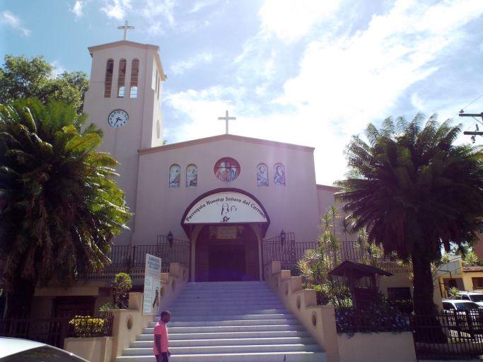 Die Hauptkirche Jarabacoas