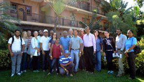 """Konferenzteilnehmer """"Grüne Infrastruktur"""" im Hotel Gran Jimenoa"""