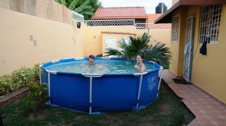 Pool-Party bei Renata und Fernando :-)