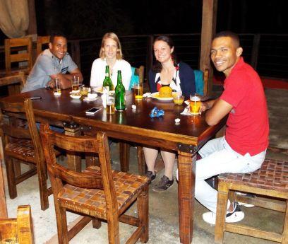 Geburtstagsrunde im Pucho's, einem Mofongo-Restaurant