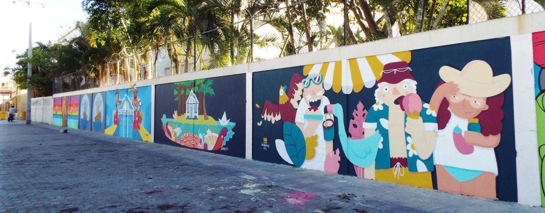 Frische Wandmalereien