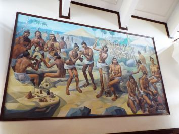 Merkwürdiges Taino-Wandgemälde