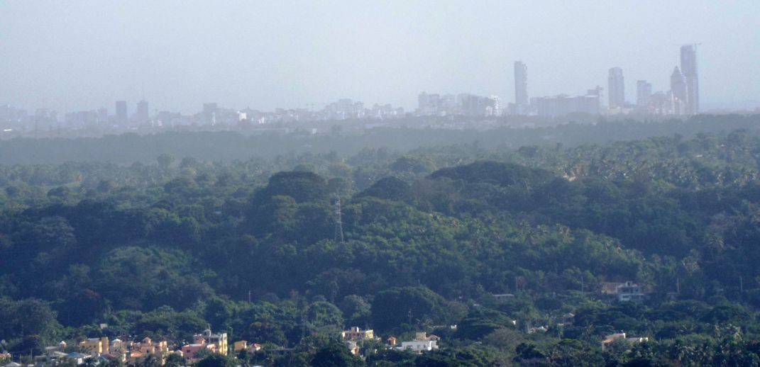 Blick bis Santo Domingo