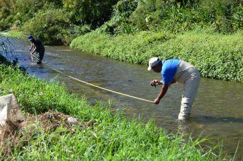 Abmessungen zur Bestimmung der Wassermenge