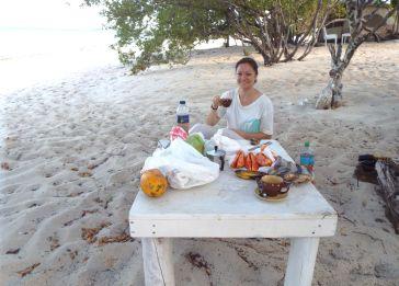 Frühstück am Strand - herrlich!