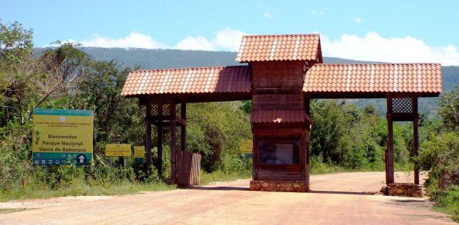 Eingang zum Nationalpark Sierra de Bahoruco