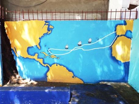 Murales (Wandmalereien) in einer Schule