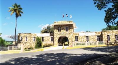 Militärstation nahe am dominikanisch-haitianischen Grenzübergang