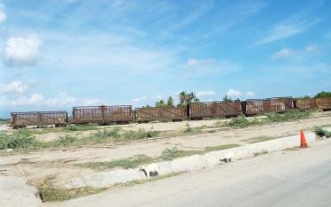 Güterwagons zum Transport von Zuckerrohr