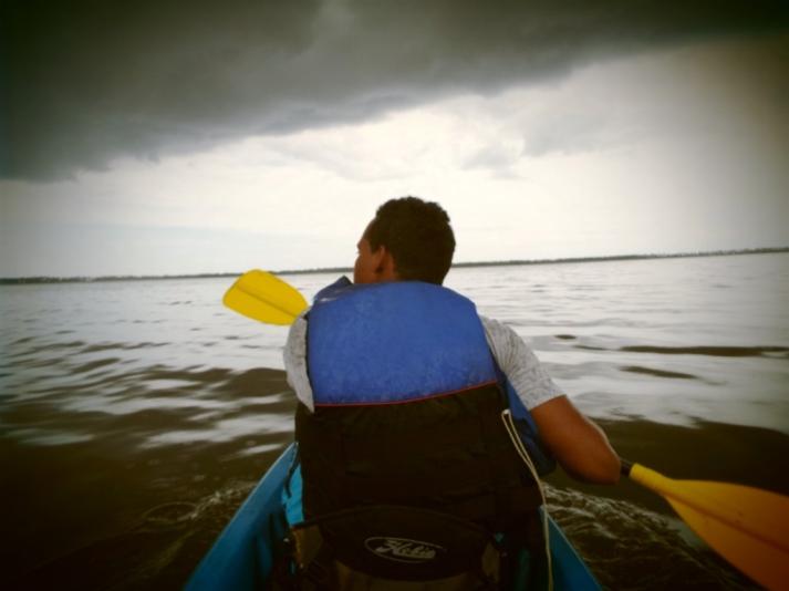 Kayak-Fahren auf der Laguna Redonda