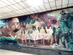 Wandmalerei im Busbahnhof