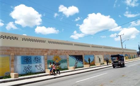 Murales auf dem Weg ins Zentrum