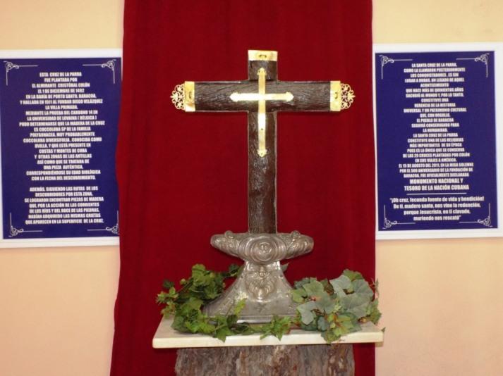 Angeblich das von Kolumbus in Baracoa errichtete Kreuz bei seinem Landgang