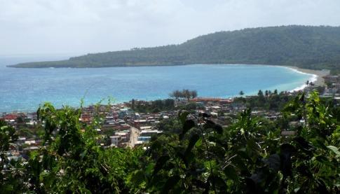 Blick auf die Bucht von Baracoa