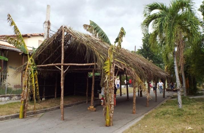 Aufbau für die Fiesta del Fuego