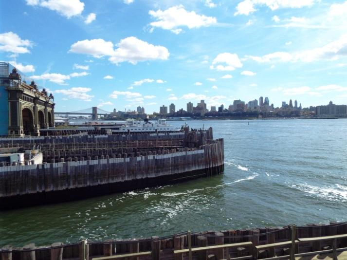 Abfahrt mit der kostenlosen Fähre nach Staten Island