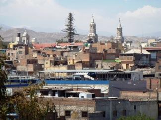 Blick auf die Altstadt Arequipas