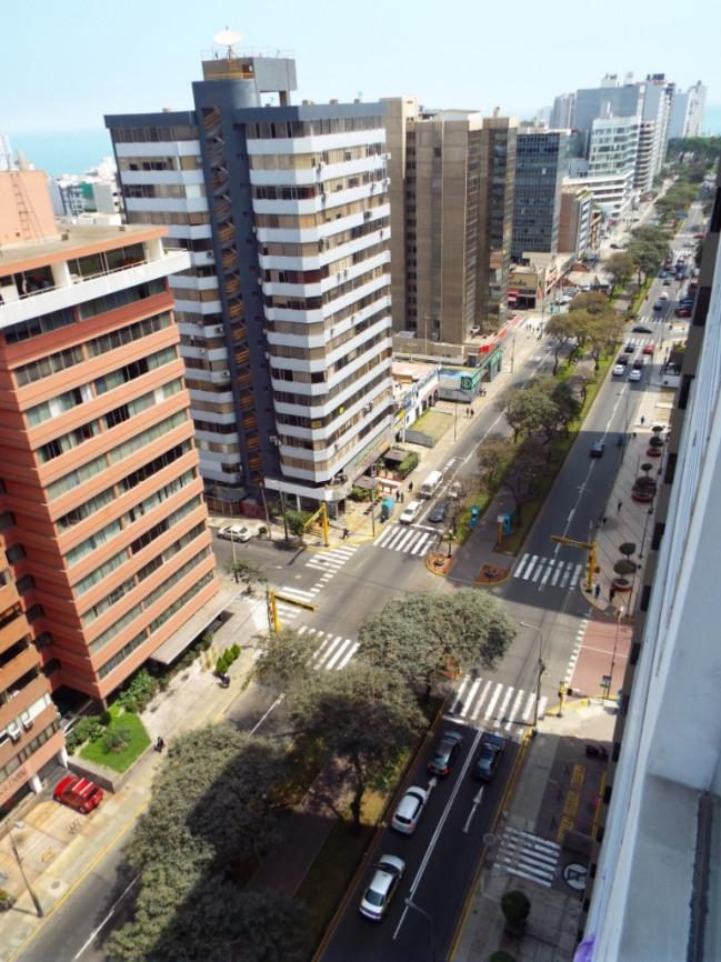 Blick von unserem Apartment auf Miraflores