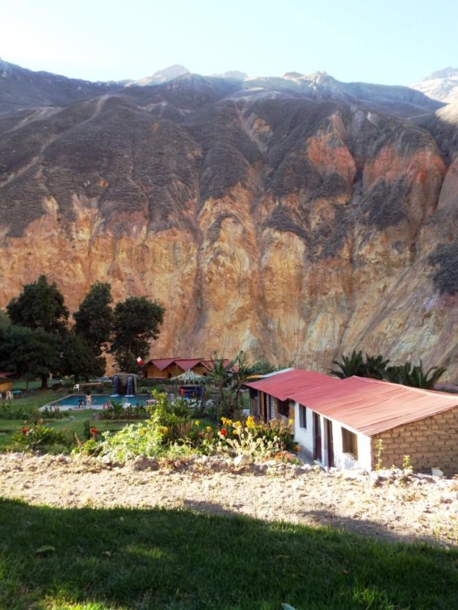 Unsere zweite Unterkunft in der Oase des Colca-Canyons