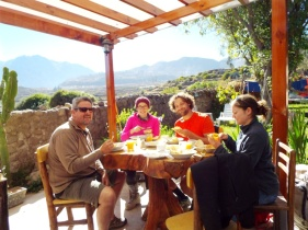 Abschlussfrühstück in Cabanaconde