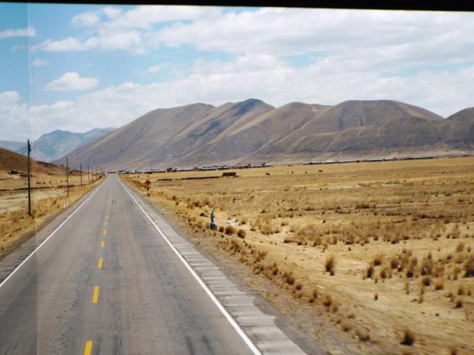 Im Bus von Puno nach Cuzco