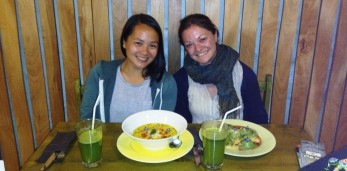 Gesundes und farbenfrohes Abendessen