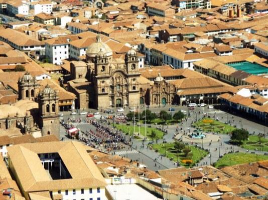 Plaza de Armas aus der Vogelperspektive