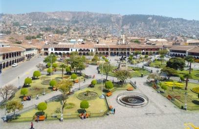 Plaza de Armas vom Turm der Kathedrale aus gesehen